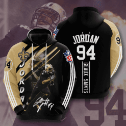 NFL New Orleans Saints 3D Hoodie V15