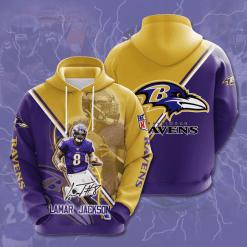 NFL Baltimore Ravens 3D Hoodie V15