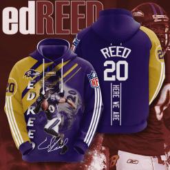 NFL Baltimore Ravens 3D Hoodie V16