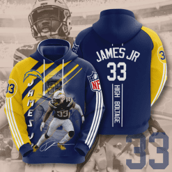 NFL Los Angeles Chargers 3D Hoodie V16