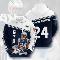 NFL New England Patriots 3D Hoodie V19