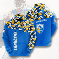 NFL Los Angeles Chargers 3D Hoodie V2