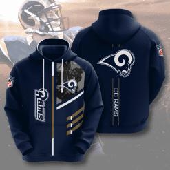 NFL Los Angeles Rams 3D Hoodie V2