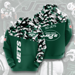NFL New York Jets 3D Hoodie V2