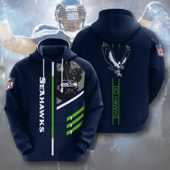 NFL Seattle Seahawks 3D Hoodie V2