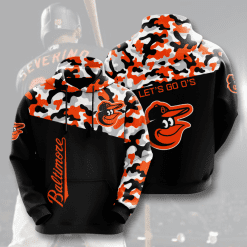MLB Baltimore Orioles 3D Hoodie V2