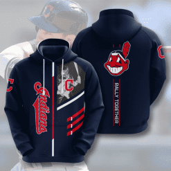 MLB Cleveland Indians 3D Hoodie V2