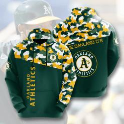 MLB Oakland Athletics 3D Hoodie V2