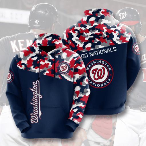 MLB Washington Nationals 3D Hoodie V2
