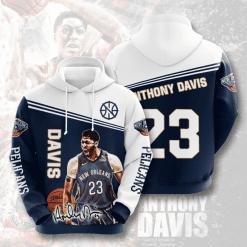NBA New Orleans Pelicans 3D Hoodie V2