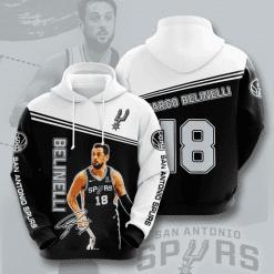 NBA San Antonio Spurs 3D Hoodie V2
