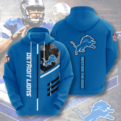NFL Detroit Lions 3D Hoodie V2