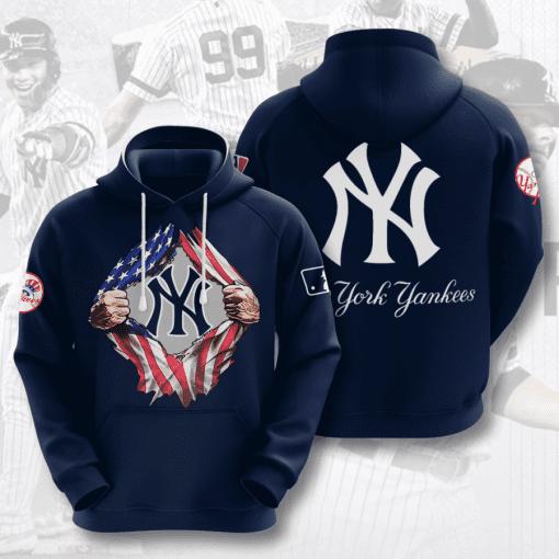 MLB New York Yankees 3D Hoodie V23