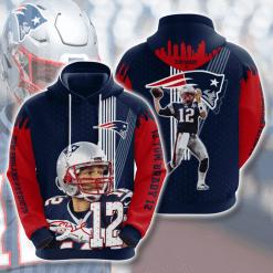 NFL New England Patriots 3D Hoodie V24
