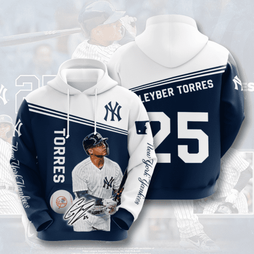 MLB New York Yankees 3D Hoodie V29