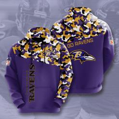 NFL Baltimore Ravens 3D Hoodie V3