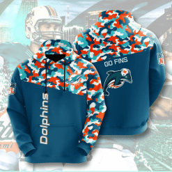 NFL Miami Dolphins 3D Hoodie V3