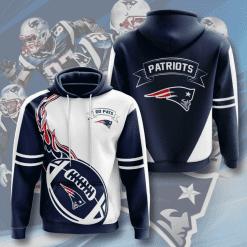 NFL New England Patriots 3D Hoodie V3