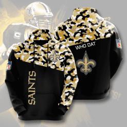 NFL New Orleans Saints 3D Hoodie V3