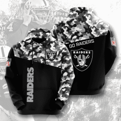 NFL Oakland Raiders 3D Hoodie V3