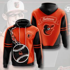 MLB Baltimore Orioles 3D Hoodie V3
