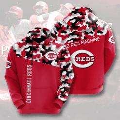 MLB Cincinnati Reds 3D Hoodie V3