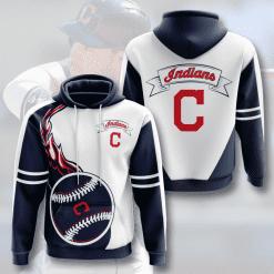 MLB Cleveland Indians 3D Hoodie V4