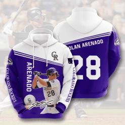 MLB Colorado Rockies 3D Hoodie V3