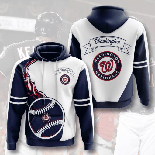 MLB Washington Nationals 3D Hoodie V3