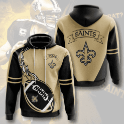 NFL New Orleans Saints 3D Hoodie V4