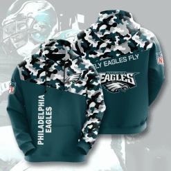 NFL Philadelphia Eagles 3D Hoodie V4