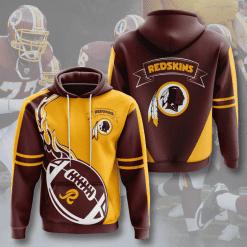 NFL Washington Redskins 3D Hoodie V4
