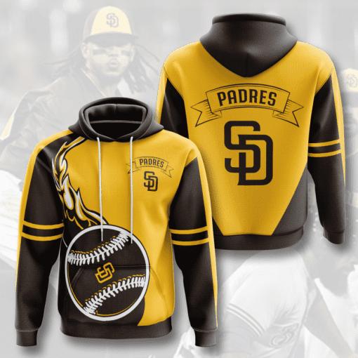 MLB San Diego Padres 3D Hoodie V4