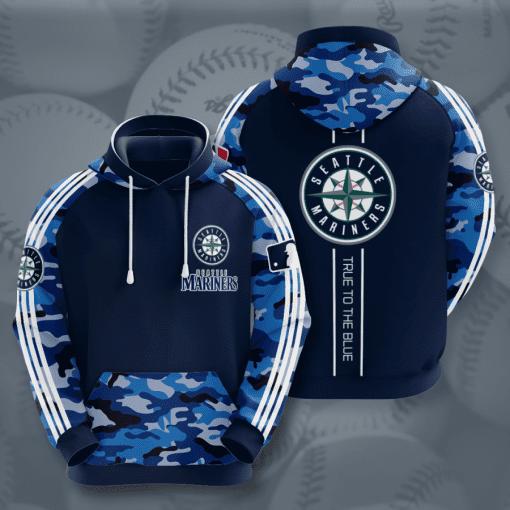 MLB Seattle Mariners 3D Hoodie V4