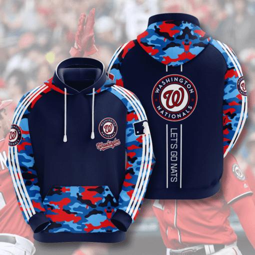 MLB Washington Nationals 3D Hoodie V4