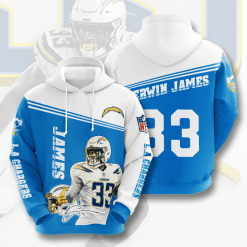 NFL Los Angeles Chargers 3D Hoodie V5