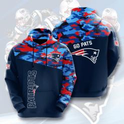 NFL New England Patriots 3D Hoodie V5