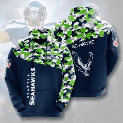 NFL Seattle Seahawks 3D Hoodie V5