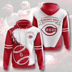MLB Cincinnati Reds 3D Hoodie V5