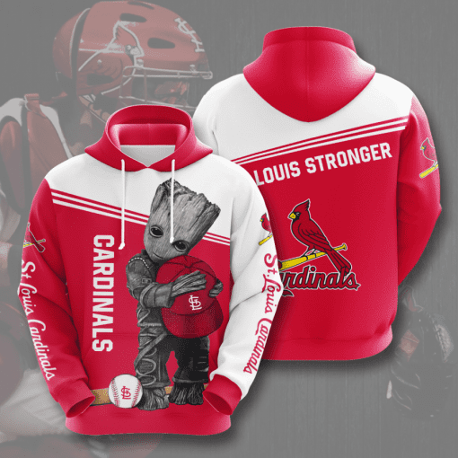 MLB St. Louis Cardinals 3D Hoodie V5