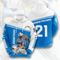NFL Los Angeles Chargers 3D Hoodie V6