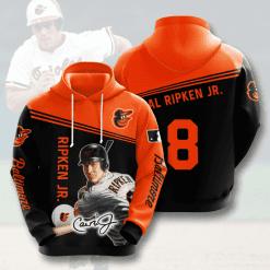 MLB Baltimore Orioles 3D Hoodie V7