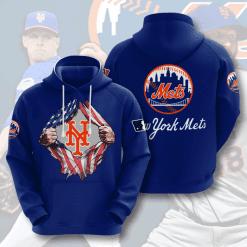 MLB New York Mets 3D Hoodie V7