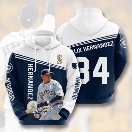 MLB Seattle Mariners 3D Hoodie V7