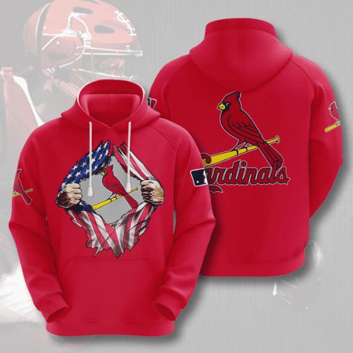 MLB St. Louis Cardinals 3D Hoodie V7