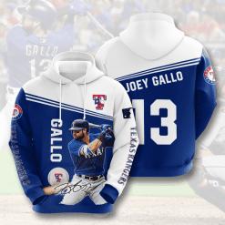 MLB Texas Rangers 3D Hoodie V7