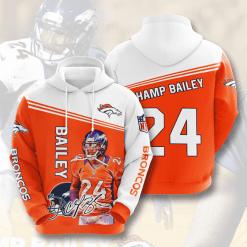 NFL Denver Broncos 3D Hoodie V7