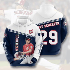 MLB Washington Nationals 3D Hoodie V8