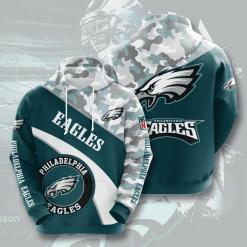 NFL Philadelphia Eagles 3D Hoodie V9