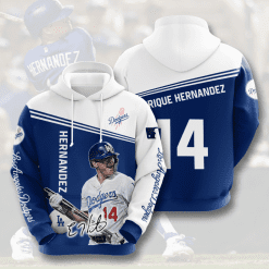 MLB Los Angeles Dodgers 3D Hoodie V9